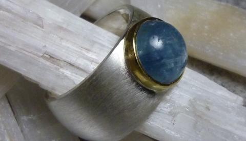 Ring, Aquamarin